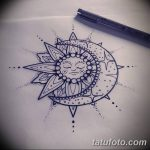фото Эскизы тату полумесяц от 18.06.2018 №044 - Sketches of a moon tattoo - tatufoto.com