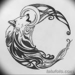 фото Эскизы тату полумесяц от 18.06.2018 №045 - Sketches of a moon tattoo - tatufoto.com