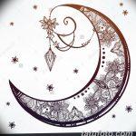 фото Эскизы тату полумесяц от 18.06.2018 №046 - Sketches of a moon tattoo - tatufoto.com