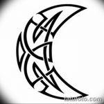 фото Эскизы тату полумесяц от 18.06.2018 №048 - Sketches of a moon tattoo - tatufoto.com
