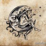 фото Эскизы тату полумесяц от 18.06.2018 №050 - Sketches of a moon tattoo - tatufoto.com
