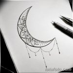 фото Эскизы тату полумесяц от 18.06.2018 №054 - Sketches of a moon tattoo - tatufoto.com