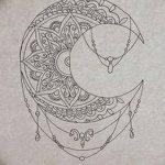 фото Эскизы тату полумесяц от 18.06.2018 №055 - Sketches of a moon tattoo - tatufoto.com
