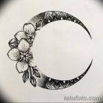 фото Эскизы тату полумесяц от 18.06.2018 №056 - Sketches of a moon tattoo - tatufoto.com