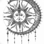 фото Эскизы тату полумесяц от 18.06.2018 №060 - Sketches of a moon tattoo - tatufoto.com