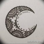 фото Эскизы тату полумесяц от 18.06.2018 №061 - Sketches of a moon tattoo - tatufoto.com