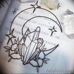 фото Эскизы тату полумесяц от 18.06.2018 №064 - Sketches of a moon tattoo - tatufoto.com