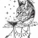 фото Эскизы тату полумесяц от 18.06.2018 №068 - Sketches of a moon tattoo - tatufoto.com