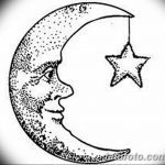 фото Эскизы тату полумесяц от 18.06.2018 №072 - Sketches of a moon tattoo - tatufoto.com