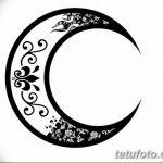 фото Эскизы тату полумесяц от 18.06.2018 №074 - Sketches of a moon tattoo - tatufoto.com