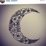 фото Эскизы тату полумесяц от 18.06.2018 №075 - Sketches of a moon tattoo - tatufoto.com