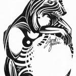 фото Эскизы тату полумесяц от 18.06.2018 №078 - Sketches of a moon tattoo - tatufoto.com