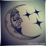 фото Эскизы тату полумесяц от 18.06.2018 №082 - Sketches of a moon tattoo - tatufoto.com
