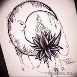 фото Эскизы тату полумесяц от 18.06.2018 №085 - Sketches of a moon tattoo - tatufoto.com