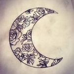 фото Эскизы тату полумесяц от 18.06.2018 №087 - Sketches of a moon tattoo - tatufoto.com