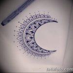 фото Эскизы тату полумесяц от 18.06.2018 №088 - Sketches of a moon tattoo - tatufoto.com