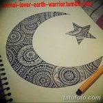 фото Эскизы тату полумесяц от 18.06.2018 №091 - Sketches of a moon tattoo - tatufoto.com