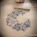 фото Эскизы тату полумесяц от 18.06.2018 №092 - Sketches of a moon tattoo - tatufoto.com