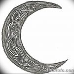 фото Эскизы тату полумесяц от 18.06.2018 №096 - Sketches of a moon tattoo - tatufoto.com
