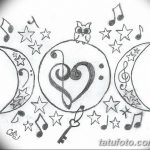 фото Эскизы тату полумесяц от 18.06.2018 №103 - Sketches of a moon tattoo - tatufoto.com