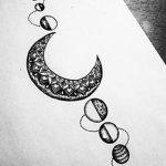 фото Эскизы тату полумесяц от 18.06.2018 №109 - Sketches of a moon tattoo - tatufoto.com