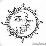 фото Эскизы тату полумесяц от 18.06.2018 №110 - Sketches of a moon tattoo - tatufoto.com