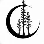 фото Эскизы тату полумесяц от 18.06.2018 №112 - Sketches of a moon tattoo - tatufoto.com