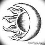 фото Эскизы тату полумесяц от 18.06.2018 №116 - Sketches of a moon tattoo - tatufoto.com