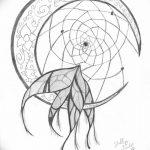 фото Эскизы тату полумесяц от 18.06.2018 №117 - Sketches of a moon tattoo - tatufoto.com
