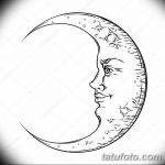фото Эскизы тату полумесяц от 18.06.2018 №118 - Sketches of a moon tattoo - tatufoto.com