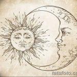 фото Эскизы тату полумесяц от 18.06.2018 №119 - Sketches of a moon tattoo - tatufoto.com