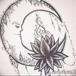 фото Эскизы тату полумесяц от 18.06.2018 №122 - Sketches of a moon tattoo - tatufoto.com