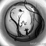 фото Эскизы тату полумесяц от 18.06.2018 №123 - Sketches of a moon tattoo - tatufoto.com