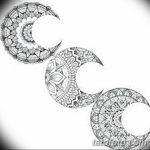 фото Эскизы тату полумесяц от 18.06.2018 №129 - Sketches of a moon tattoo - tatufoto.com