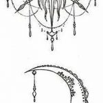 фото Эскизы тату полумесяц от 18.06.2018 №130 - Sketches of a moon tattoo - tatufoto.com