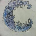 фото Эскизы тату полумесяц от 18.06.2018 №131 - Sketches of a moon tattoo - tatufoto.com