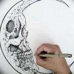 фото Эскизы тату полумесяц от 18.06.2018 №133 - Sketches of a moon tattoo - tatufoto.com