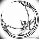 фото Эскизы тату полумесяц от 18.06.2018 №137 - Sketches of a moon tattoo - tatufoto.com