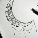 фото Эскизы тату полумесяц от 18.06.2018 №139 - Sketches of a moon tattoo - tatufoto.com