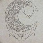 фото Эскизы тату полумесяц от 18.06.2018 №141 - Sketches of a moon tattoo - tatufoto.com