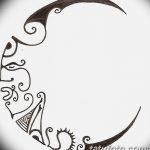 фото Эскизы тату полумесяц от 18.06.2018 №145 - Sketches of a moon tattoo - tatufoto.com