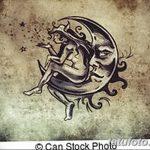 фото Эскизы тату полумесяц от 18.06.2018 №147 - Sketches of a moon tattoo - tatufoto.com