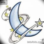 фото Эскизы тату полумесяц от 18.06.2018 №148 - Sketches of a moon tattoo - tatufoto.com