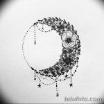 фото Эскизы тату полумесяц от 18.06.2018 №149 - Sketches of a moon tattoo - tatufoto.com