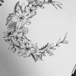 фото Эскизы тату полумесяц от 18.06.2018 №150 - Sketches of a moon tattoo - tatufoto.com