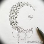 фото Эскизы тату полумесяц от 18.06.2018 №151 - Sketches of a moon tattoo - tatufoto.com