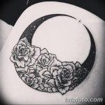фото Эскизы тату полумесяц от 18.06.2018 №152 - Sketches of a moon tattoo - tatufoto.com