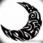 фото Эскизы тату полумесяц от 18.06.2018 №153 - Sketches of a moon tattoo - tatufoto.com