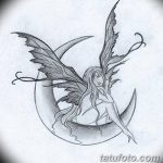 фото Эскизы тату полумесяц от 18.06.2018 №154 - Sketches of a moon tattoo - tatufoto.com