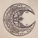 фото Эскизы тату полумесяц от 18.06.2018 №155 - Sketches of a moon tattoo - tatufoto.com